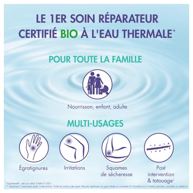 soin biologique eau thermale famille multi usage