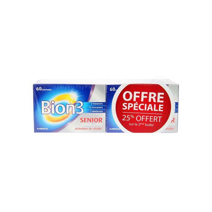 Bion 3 Senior Lot De 2x60 Comprimes Pas Cher Pharmacie Lafayette