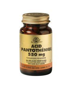 Solgar Acide pantothénique 550mg 50 capsules