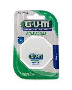 GUM Fil Dentaire Fine Floss Cylindrique Non Ciré 55m