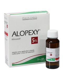 ALOPEXY 5 % solution pour application cutanée 3x60ml