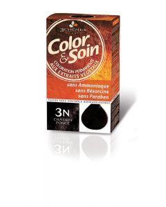 3 Chênes Color & Soin Coloration 3n Châtain Foncé 135ml
