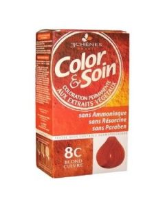 3 Chênes Color & Soin Coloration 8c Blond Cuivré 135ml