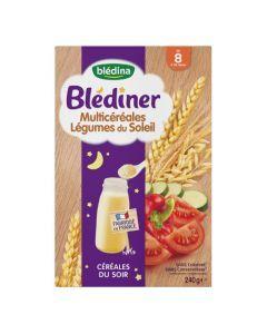 Blédina Blédîner Multicéréales Légumes du Soleil de 6 à 36 mois 240g