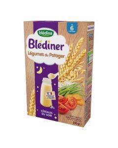 Blédina Blédîner Légumes du Potager Céréales du Soir de 6 à 36 mois 240g