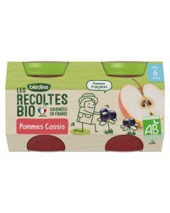 Blédina Les Récoltes Bio Pommes Cassis dès 6 mois 2x130g