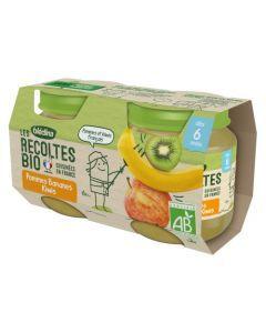 Blédina Les Récoltes Bio Pommes Bananes Kiwis dès 6 mois 2x130g