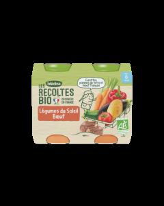Blédina Les Récoltes Bio Légumes du Soleil Bœuf dès 6 mois 2x200g