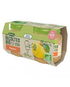 Blédina Les Récoltes Bio Pommes 4/6 mois 2x130g