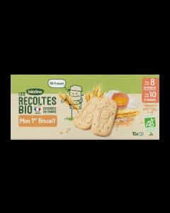 Blédina Les Récoltes Bio Mon 1er Biscuit dès 10 mois 10x15g