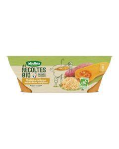 Blédina Les Récoltes Bio Mouliné de Butternut Patate Douce Boulghour dès 8 mois  2x200g
