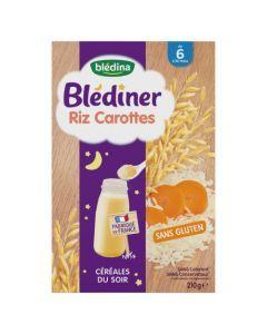 Blédina Blédîner Riz Carottes Céréales du Soir de 6 à 36 mois 210g