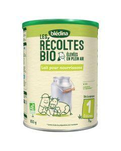 Blédina Les Récoltes Bio Lait pour Nourrisson 1er âge 800g