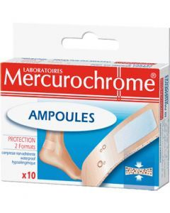 Mercurochrome 10 Pansements Ampoules