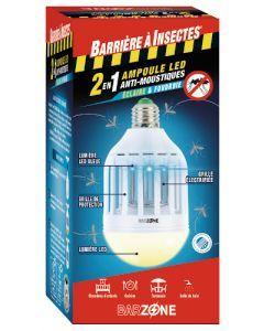 Barzone Ampoule Anti-moustiques Éclairante Intérieure/Extérieure
