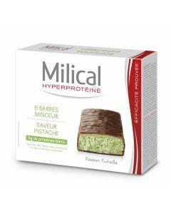 Milical Hyperprotéiné Chocolat/pistache 6 Barres