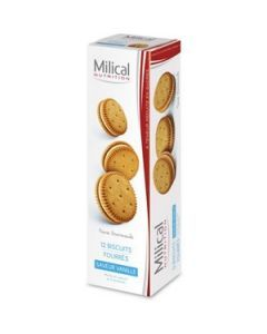 Milical Nutrition Saveur Vanille 12 Biscuits