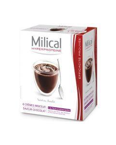 Milical Hyperprotéiné Saveur Chocolat 6 Crèmes