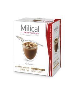 Milical Hyperprotéiné Saveur Café 6 Crèmes