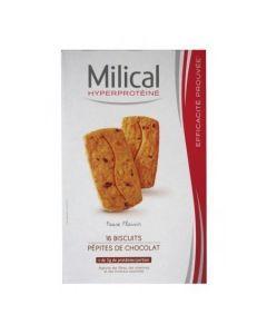 Milical Hyperprotéiné Pépites de Chocolat 16 Biscuits
