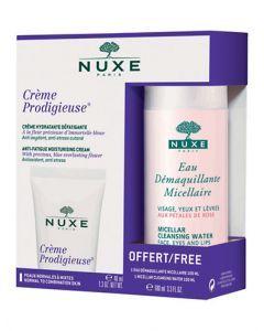 Nuxe Prodigieuse Crème Peaux Normales à Mixtes 40ml + Eau Micellaire Offerte 100ml
