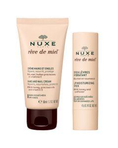 Nuxe Rêve de Miel Crème Mains et Ongles 50ml+ Stick Lèvres Hydratant 4g