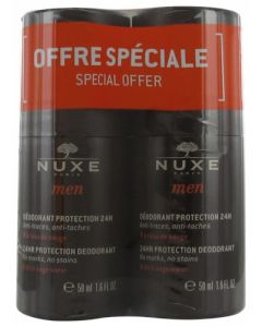 Nuxe Men Déodorant Protection 24H 2x50ml