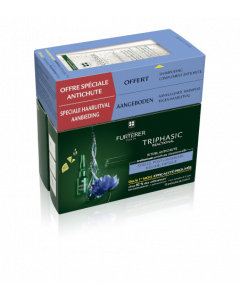 René Furterer Triphasic Reactional Rituel Anti-Chute 12 ampoules + Shampooing offert