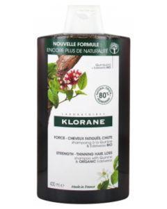 Klorane Shampoing à la Quinine et Edelweiss Bio Force Cheveux Fatigués Chute 400 ml