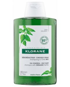 Klorane Séboréducteur Cheveux Gras Shampoing à l'Ortie Bio 200ml