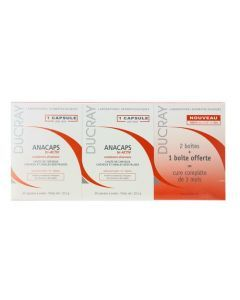 Ducray Anacaps Triactiv Chute de Cheveux 30 Capsules X3