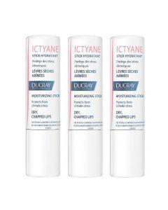 Ducray Ictyane Stick Lèvres 3g Lot de 3