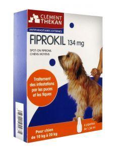 Clément Thékan Fiprokil Chien de 10 à 20kg 4 Pipettes
