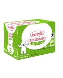 Babybio Croissance Liquide Lait de Suite à partir de 10 Mois 6x1L