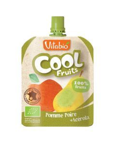 Vitabio Cool Fruits Pomme Poire Bio Gourde 90g