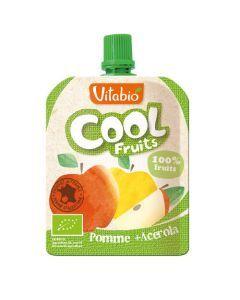 Vitabio Cool Fruits Pomme Bio Gourde 90g