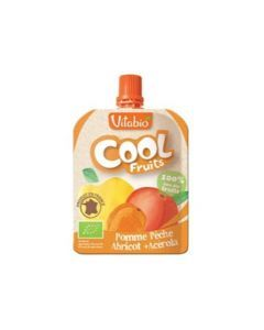 Vitabio Cool Fruits Pomme Pêche Abricot Bio Gourde 90g