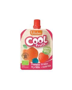 Vitabio Cool Fruits Pomme Fraise Myrtille Bio Gourde 90g