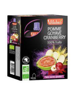 Vitabio Spécialité de Fruits Pomme Goyave Cranberry Bio 4x120 g