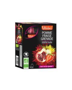Vitabio Spécialité de Fruits Pomme Fraise Grenade Bio 4x120g