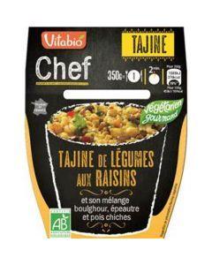 Vitabio Chef Tajine de légumes aux raisins et son mélange boulghour, épeautre et pois chiches 350g