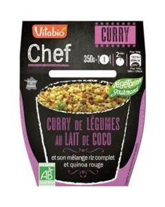 Vitabio Chef Curry de légumes au lait de coco et son mélange riz complet et quinoa rouge 350g