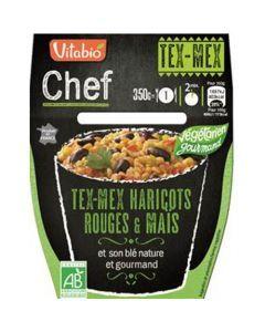 Vitabio Chef Tex-Mex Haricots Rouges & Maïs et son blé nature et gourmand 350g