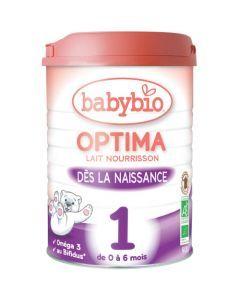 Babybio Optima 1 Lait pour Nourrissons Bio au Bifidus de 0 à 6 Mois 900g