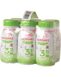 Babybio Croissance Liquide Lait de Suite à partir de 10 Mois 6x250ml
