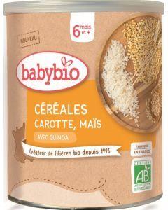 Babybio Céréales Carottes Maïs avec Quinoa dès 6 mois 220g