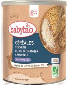 Babybio 3 Céréales Verveine Fleur d'Oranger Camomille dès 6 mois 220g