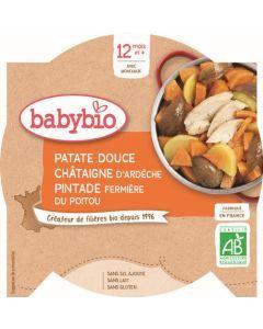 Babybio Patate Douce Châtaigne d'Ardèche Pintade Fermière du Poitou dès 12 mois 230g