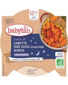 Babybio Foudue de Carotte Maïs Doux d'Aquitaine Quinoa avec Coriandre dès 12 mois 230g