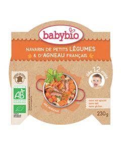 Babybio Assiette Navarin de Petits Légumes, Agneau Biologioque dès 12 Mois 230g